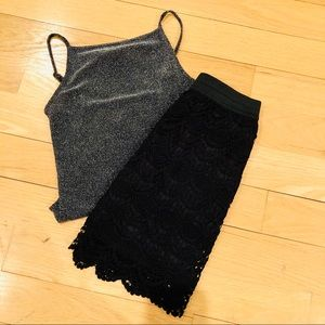 Charlotte Russe Skirts - Black Lace Skirt